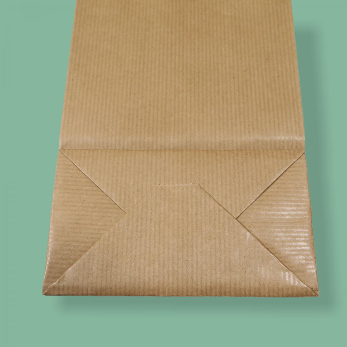 Sodrottfüles papírtáska 14x39+8 cm bordázott barna ITALTASAK A.