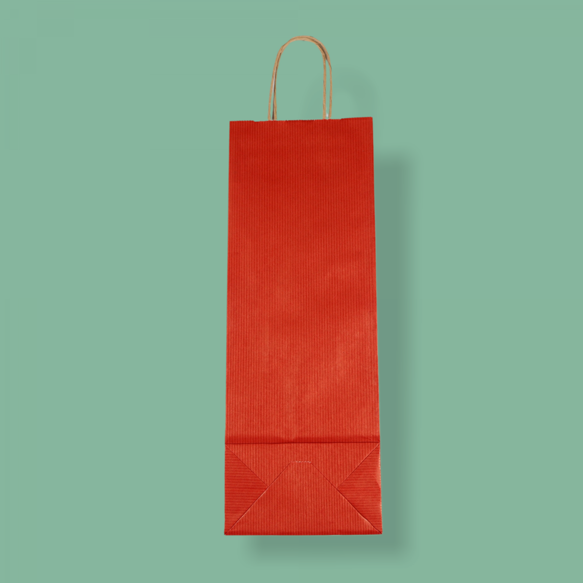 Sodrottfüles papírtáska 14x39x8 cm bordázott bordó ITALTASAK A.