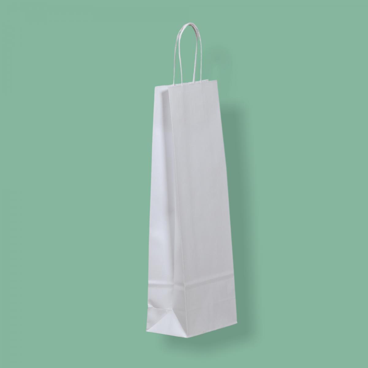 Sodrottfüles papírtáska 14x39+8 cm SÍMA kraft fehér ITALTASAK A.