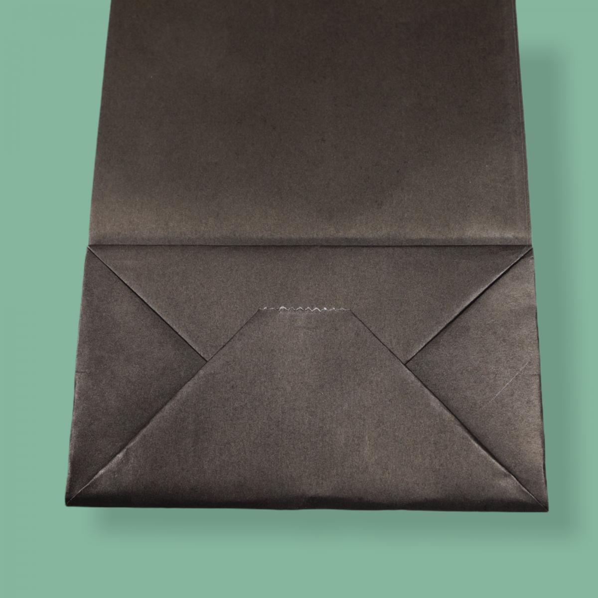 Sodrottfüles papírtáska 14x39x8 cm fekete ITALTASAK A.