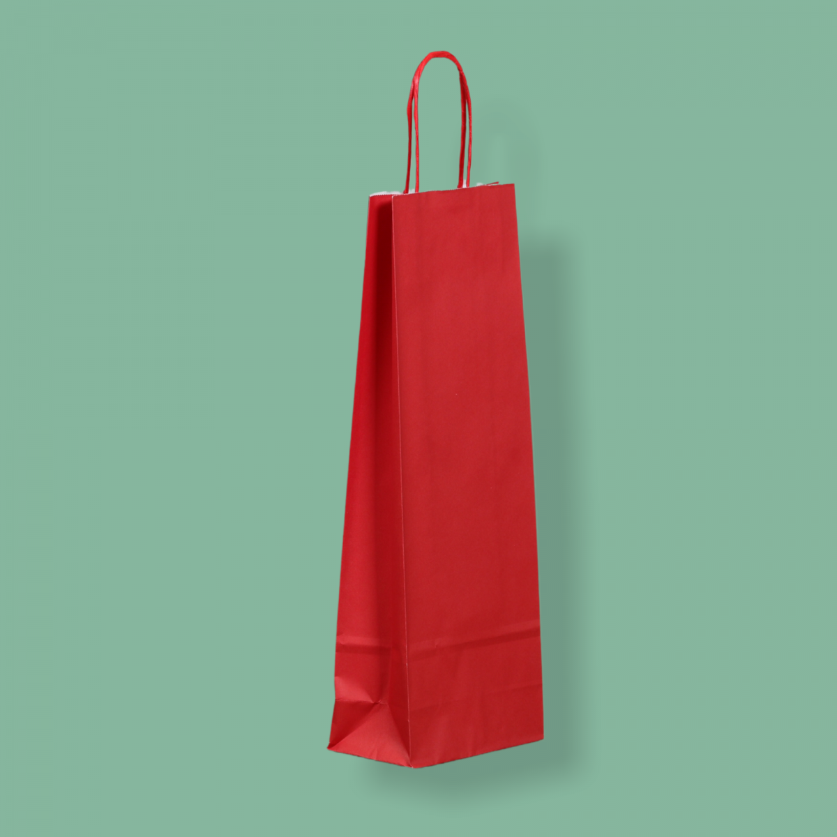 Sodrottfüles papírtáska 14x39x8 cm piros ITALTASAK A.