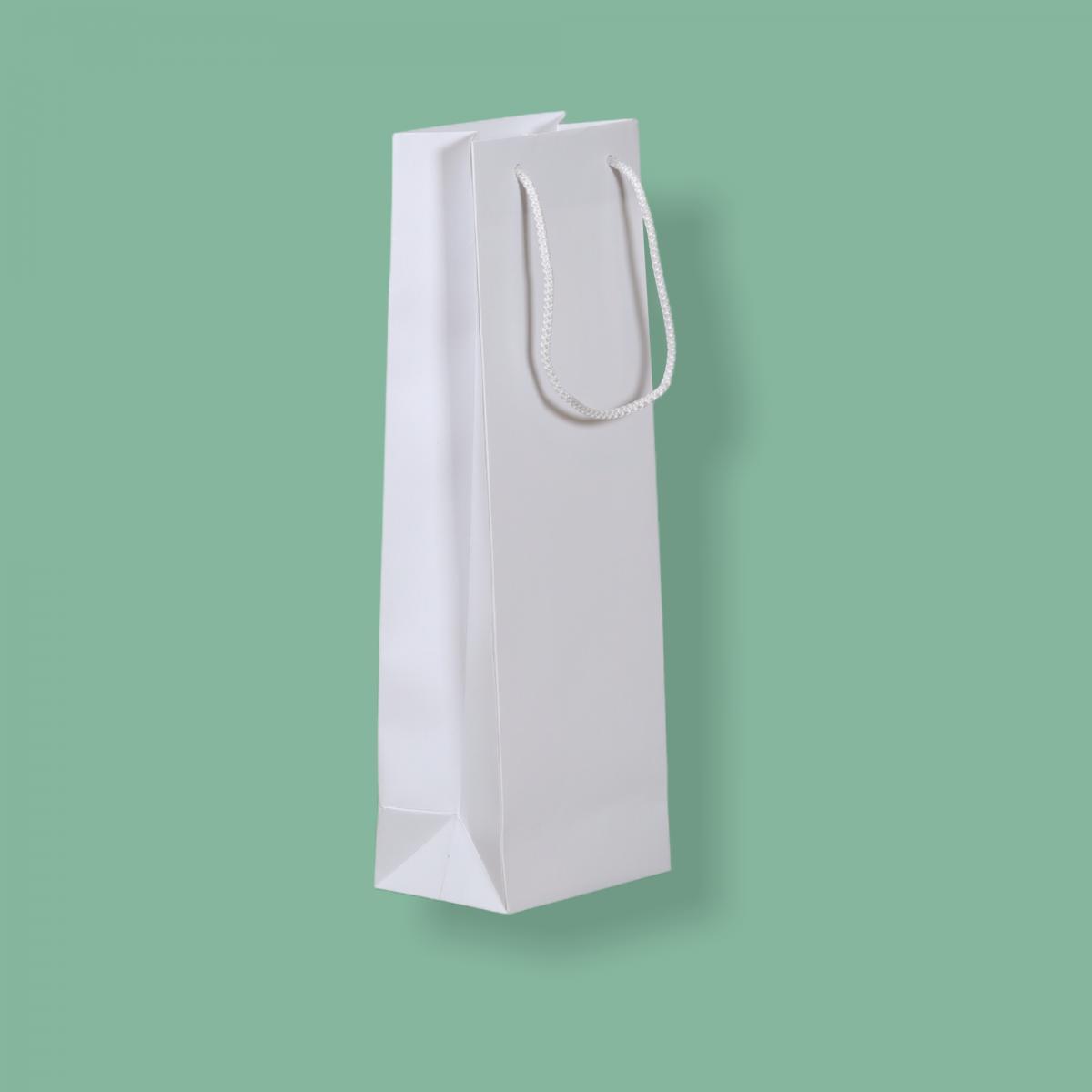 Zsinórfüles fehér simított kraft  13 x 39 + 9 cm