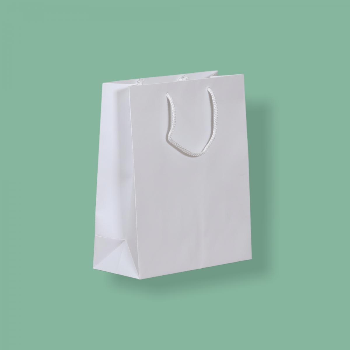 Zsinórfüles papírtáska 22 x 27 + 10 cm